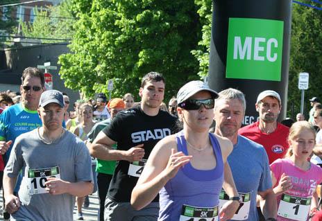 Moins de coureurs au demi-marathon MEC