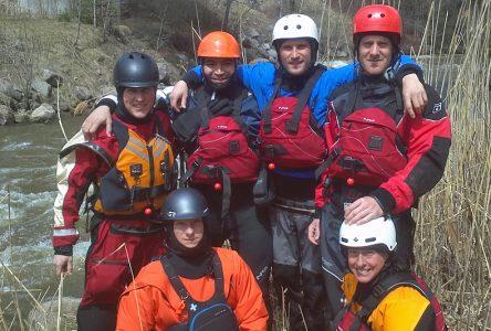 Exercice de sauvetage en rivière