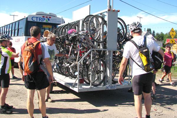 La navette-vélo de la Vélopiste toujours aussi populaire