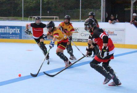 Championnat provincial de dek hockey à Portneuf