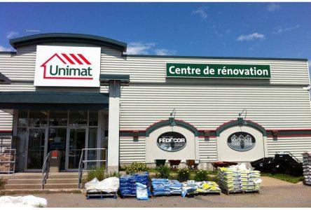 Investissement chez Unimat à Pont-Rouge