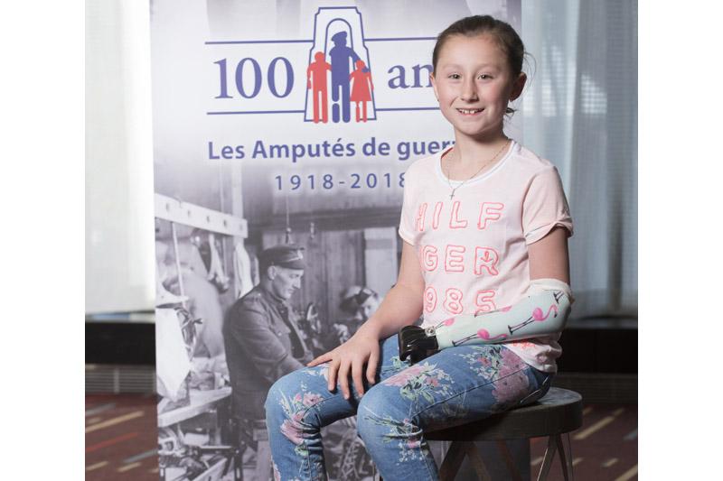 Justine Boutet au 100e anniversaire de l'Association des amputés de guerre