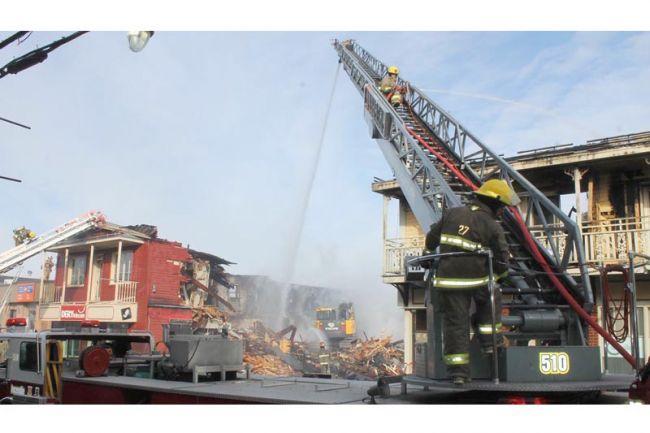 Le feu au centre-ville de Saint-Raymond «événement de 2016»