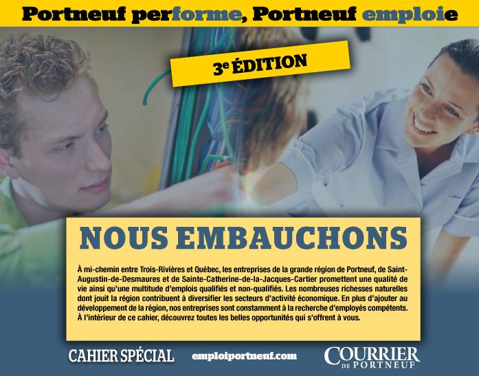Logo de Cahier spécial Portneuf performe, Portneuf emploi