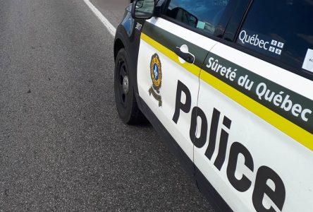 La SQ appelle à la prudence sur les routes durant le long congé