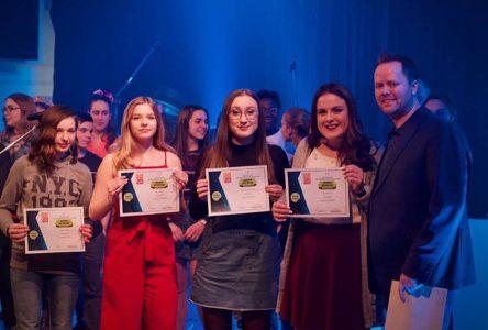 Trois gagnantes de Secondaire en spectacle à Saint-Marc-des-Carrières