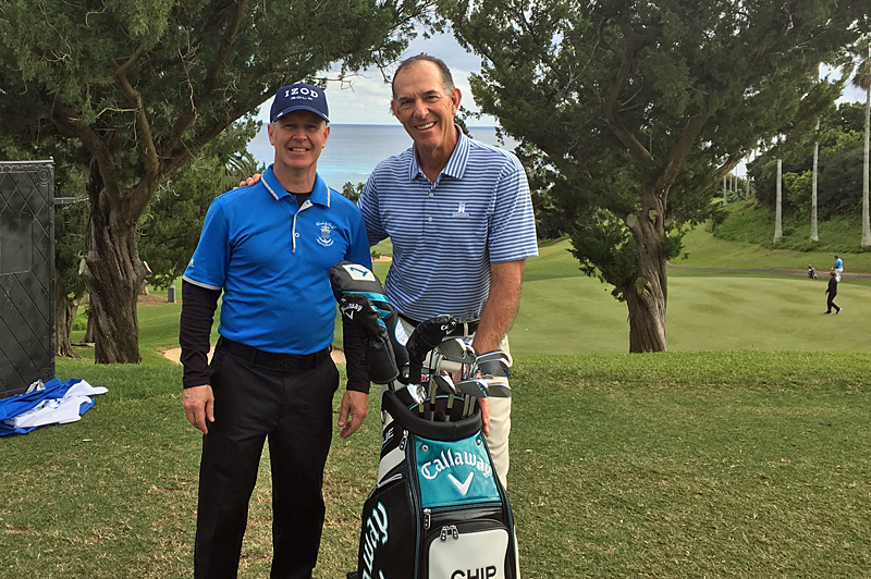 Le golfeur Carl Pelletier, 13e aux Bermudes