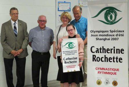 La gymnaste Catherine Rochette a sa bannière