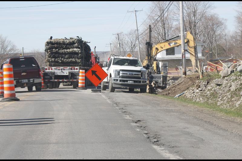Le chantier de l'égout du secteur reprend à Neuville