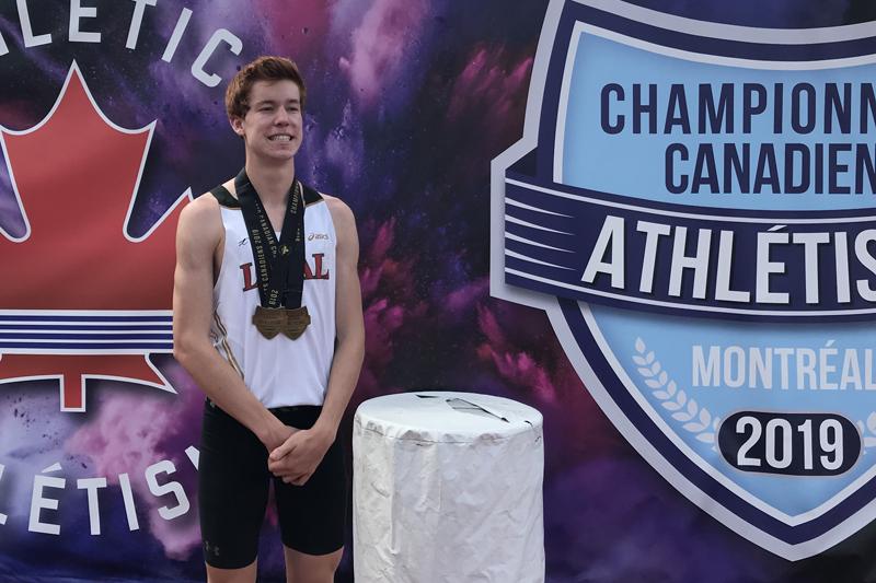 Olivier Desmeules champion canadien du 800 mètres