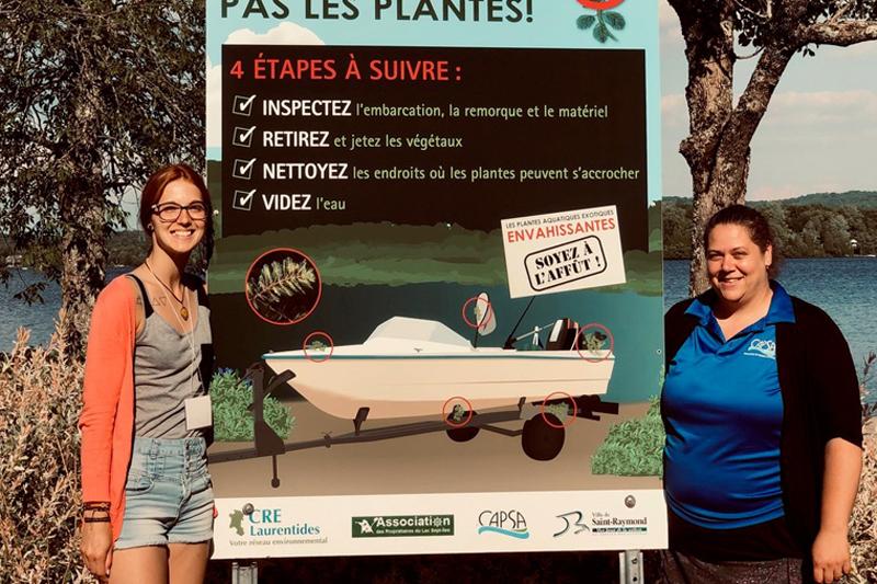 Myriophylle à épi: tournée de sensibilisation au lac Sept-Îles