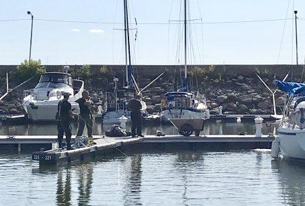 Corps repêché à la marina de Portneuf