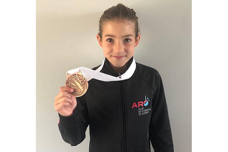 Une jeune plongeuse médaillée à Regina