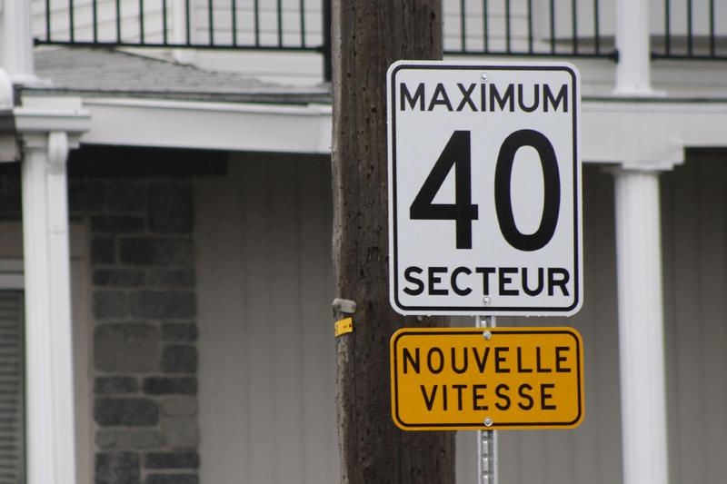 Pont-Rouge réduit la limite de vitesse