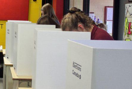 Les élèves de Portneuf ont aussi voté conservateur