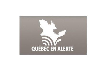 Test d'alerte au Québec à 13h55