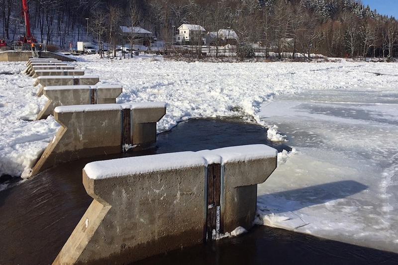 L'hiver a raison des travaux sur la rivière Sainte-Anne à Saint-Raymond