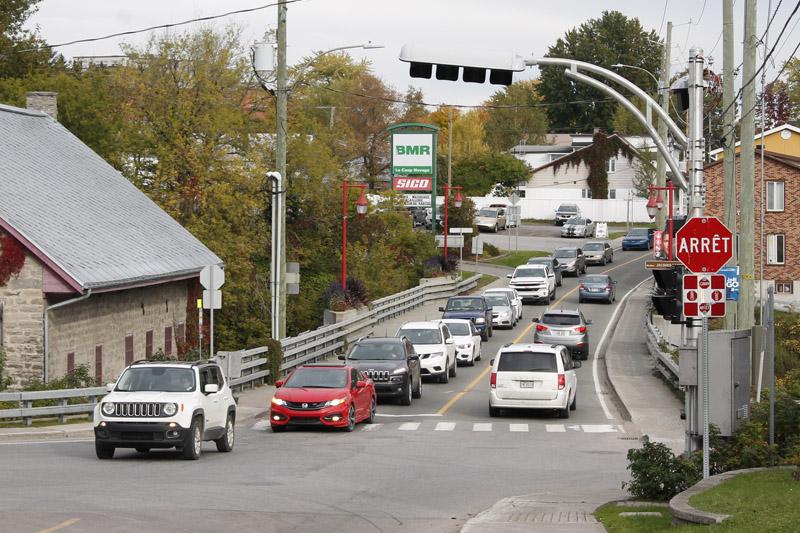 Feux de circulation en fonction ce matin à Pont-Rouge