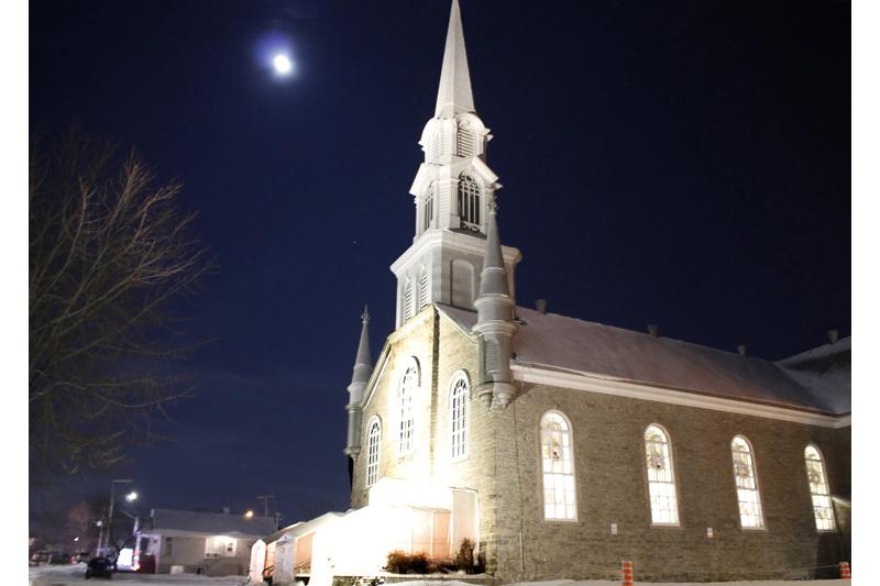 L'église de Pont-Rouge mise en lumière