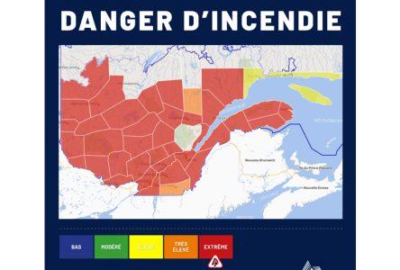 Chaleur et absence de pluie: le danger d'incendie est «EXTRÊME»
