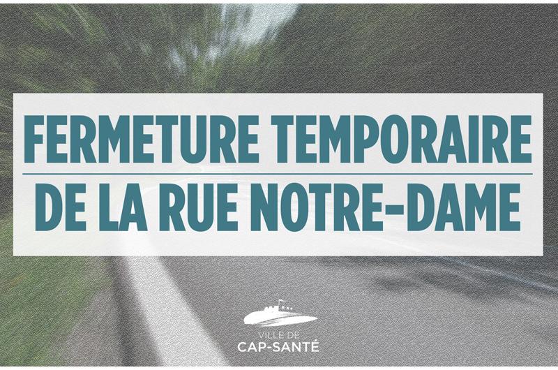 Risque d'éboulis: la rue Notre-Dame fermée entre Donnacona et Cap-Santé
