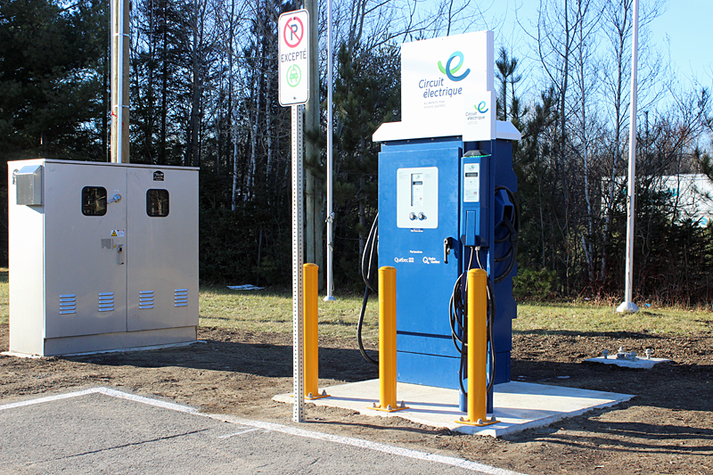 Circuit électrique d'Hydro-Québec: la borne du Chavigny la plus fréquentée