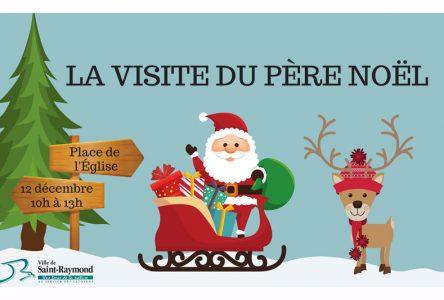 Le père Noël ne ratera pas sa visite à Saint-Raymond
