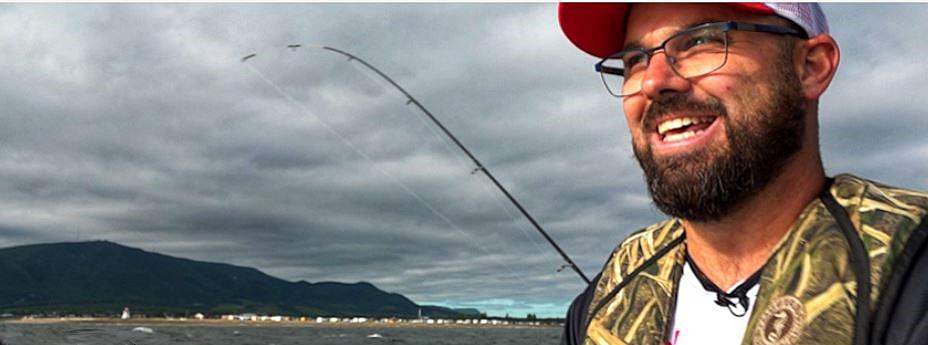 Samuel Gendron anime son émission de pêche à CJSR