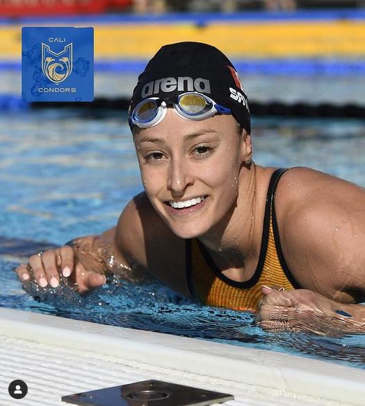 Katerine Savard nage ce week-end à Tokyo