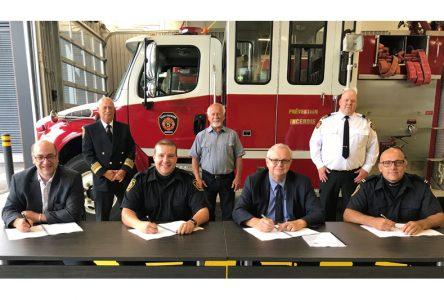 Nouvelle convention pour les pompiers de Saint-Raymond