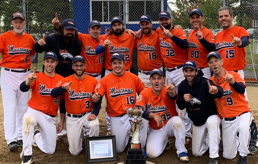Les Mustangs champions
